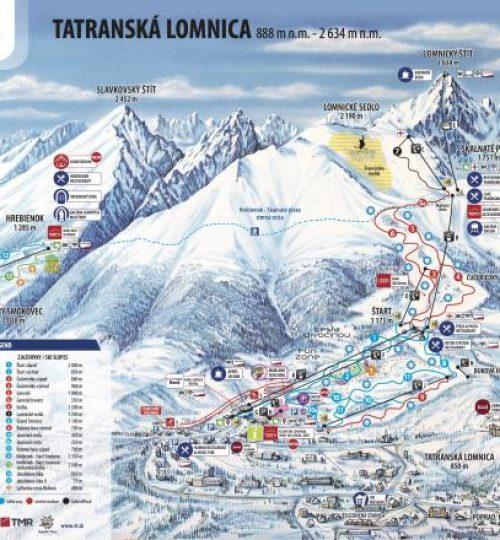 Lyžiarske stredisko Tatranská Lomnica 2km